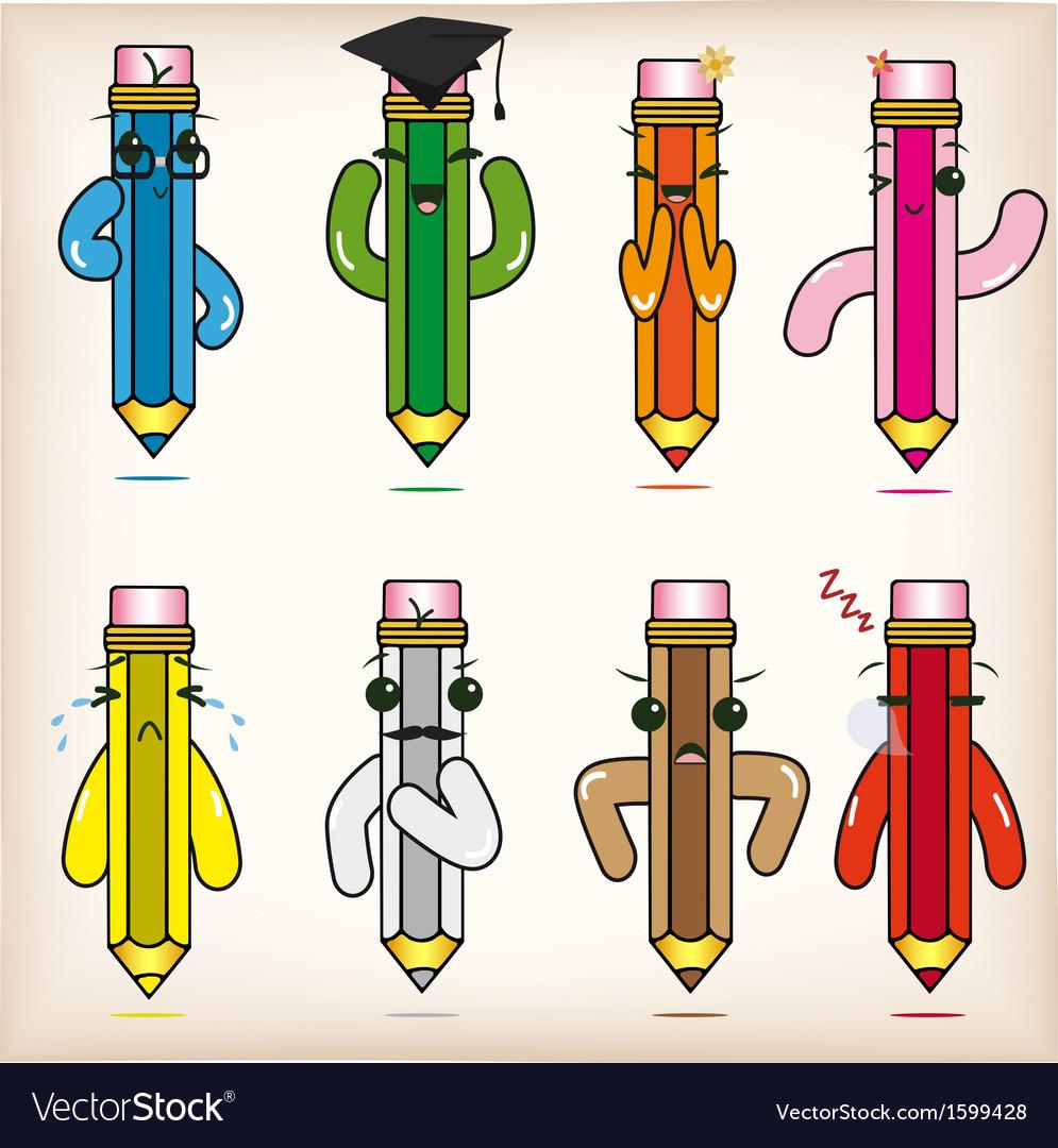 Cartoon pencils vector | Price: 1 Credit (USD $1)