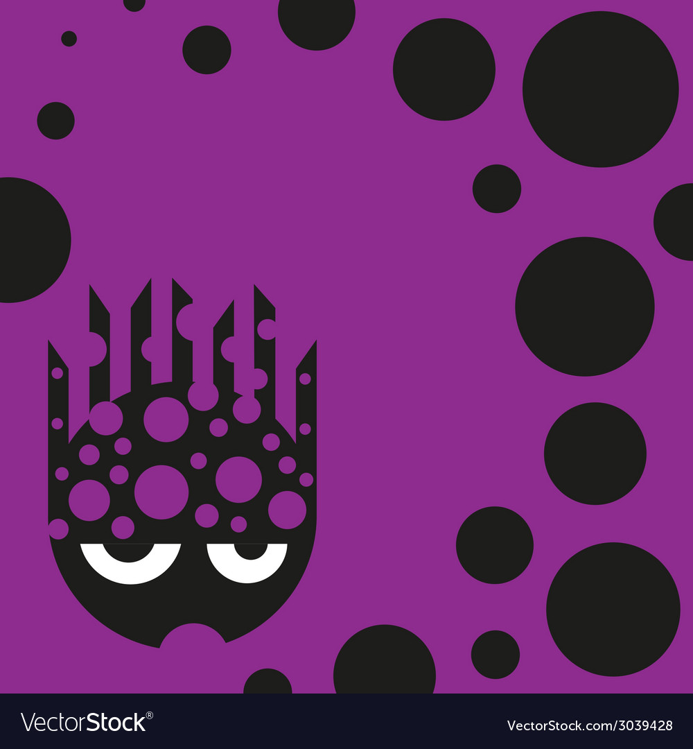 Cute bubbly monster vector | Price: 1 Credit (USD $1)