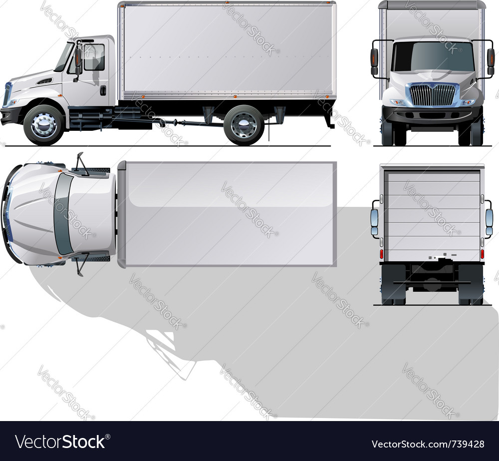 Delivery truck vector | Price: 5 Credit (USD $5)