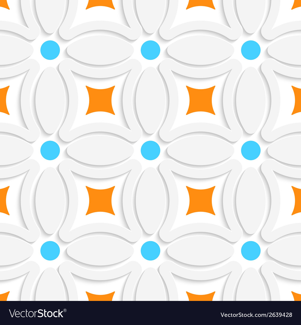 Geometric pattern with orange squares and blue vector | Price: 1 Credit (USD $1)