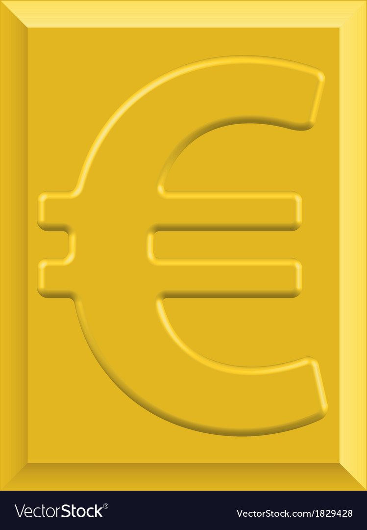 Gold euro vector | Price: 1 Credit (USD $1)
