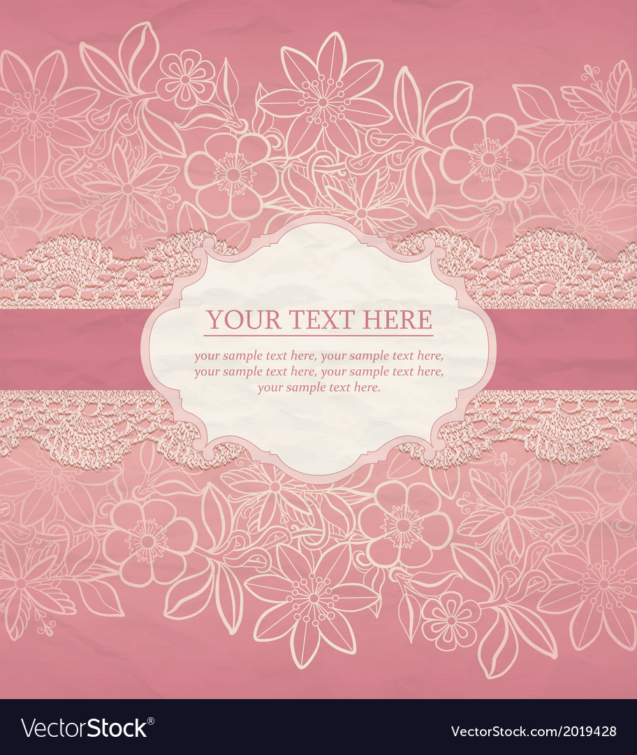 Greeting card invitation template vector | Price: 1 Credit (USD $1)