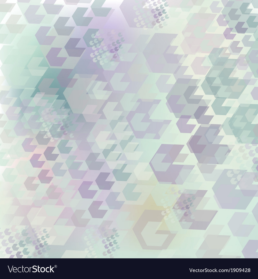 Neutral geometric pattern of hexagon vector | Price: 1 Credit (USD $1)