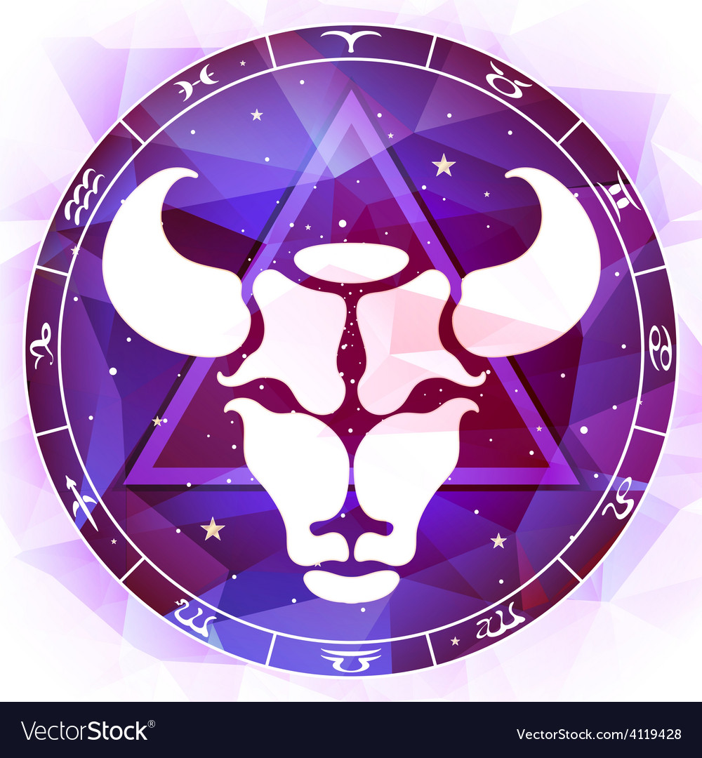 Zodiac sign taurus vector | Price: 1 Credit (USD $1)