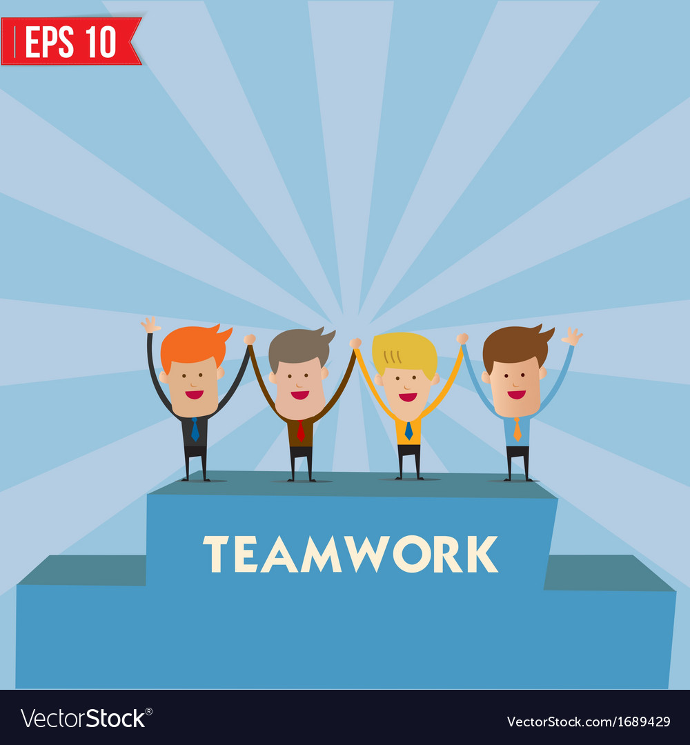 Business man teamwork spirit - - eps10 vector | Price: 1 Credit (USD $1)