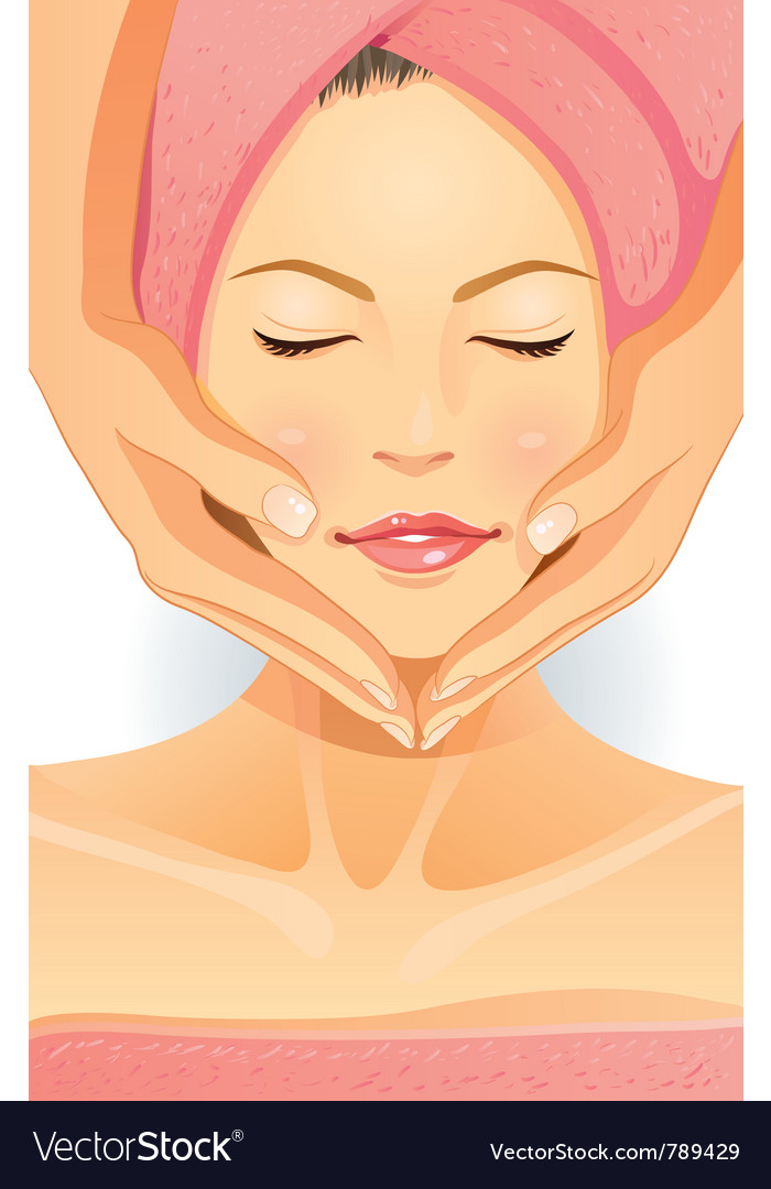 Facial spa vector | Price: 5 Credit (USD $5)