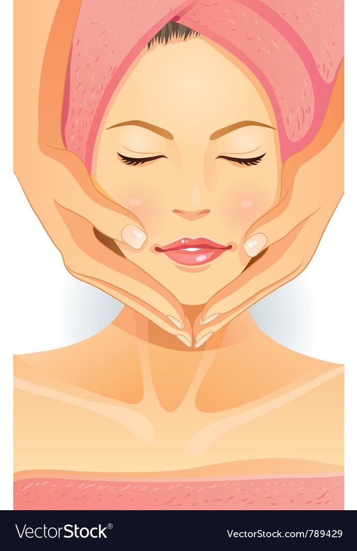 Facial spa vector | Price: 5 Credit (USD $5)