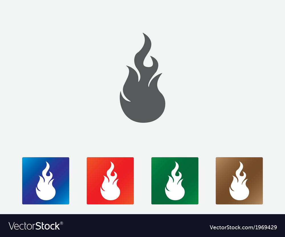 Flames icons vector | Price: 1 Credit (USD $1)