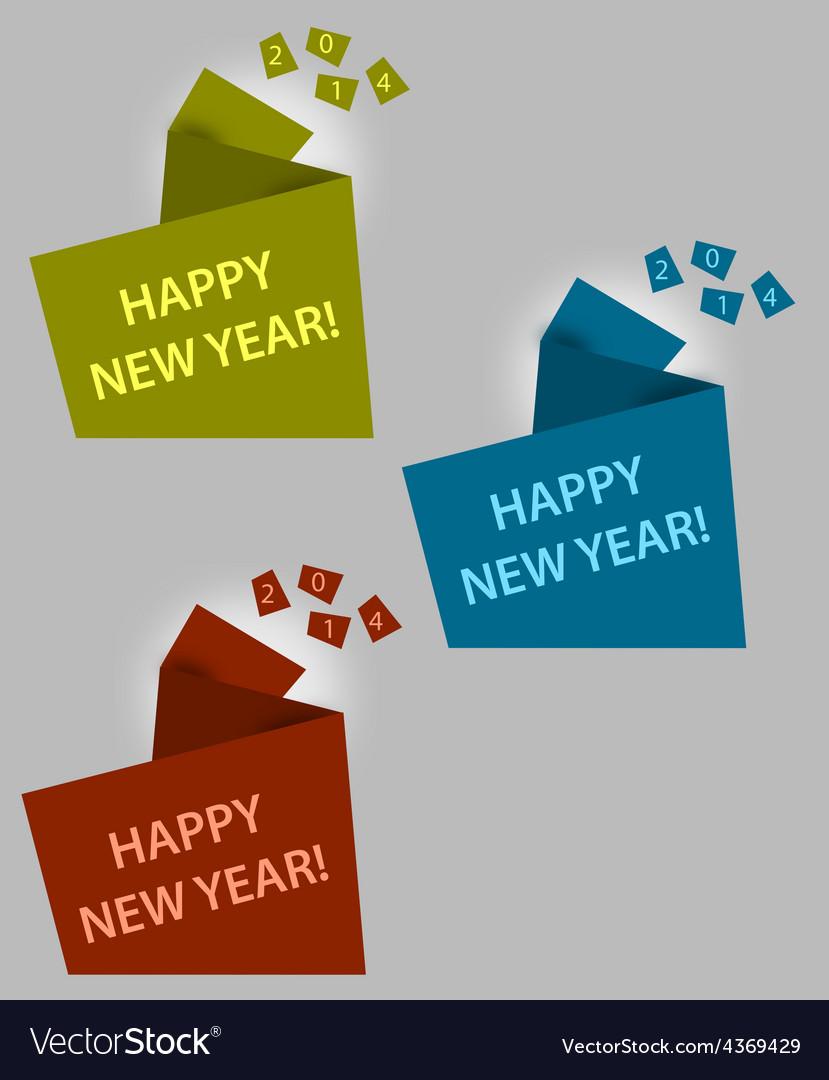 Happy new year creative box vector | Price: 1 Credit (USD $1)