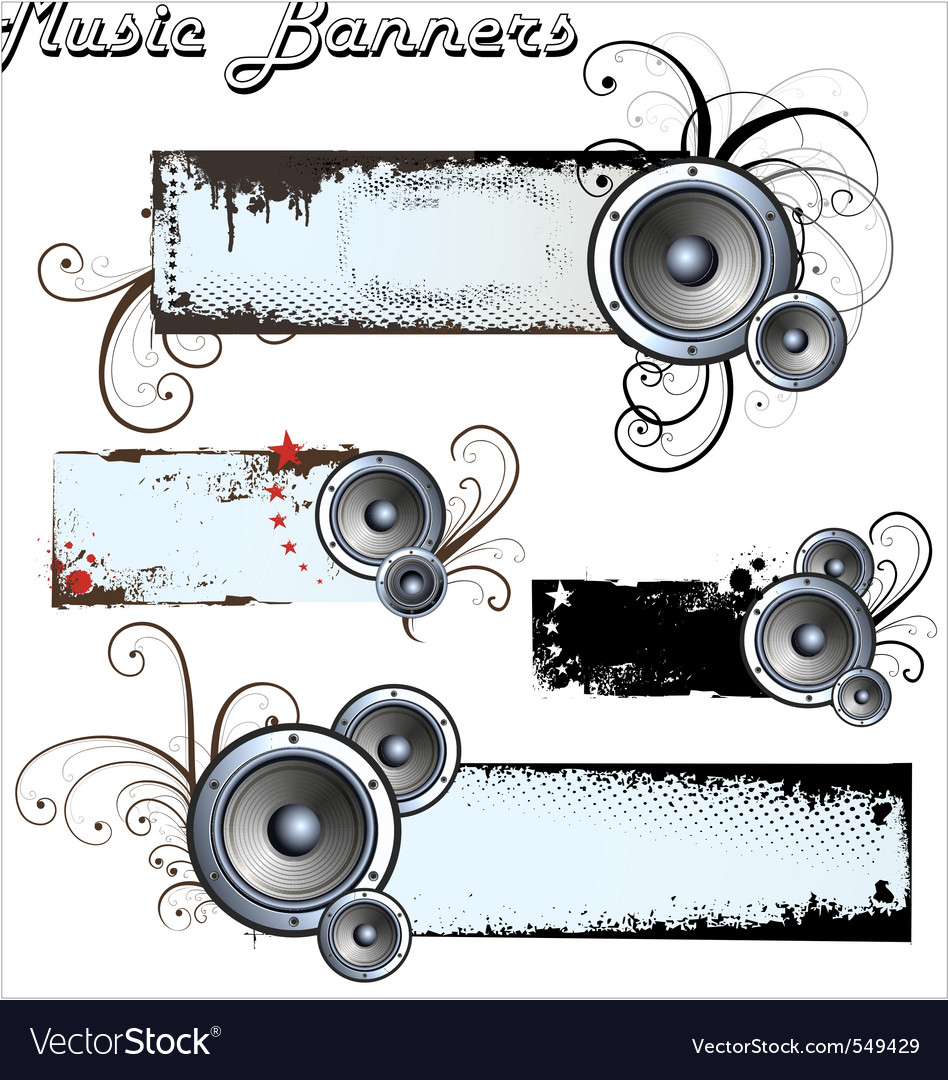 Music banners vector | Price: 1 Credit (USD $1)