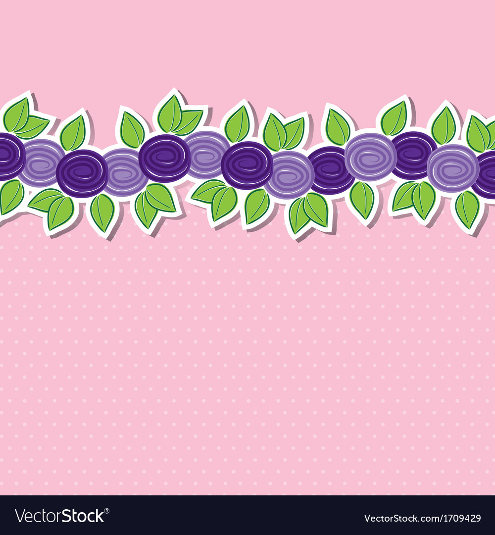 Rose banner card in format vector | Price: 3 Credit (USD $3)
