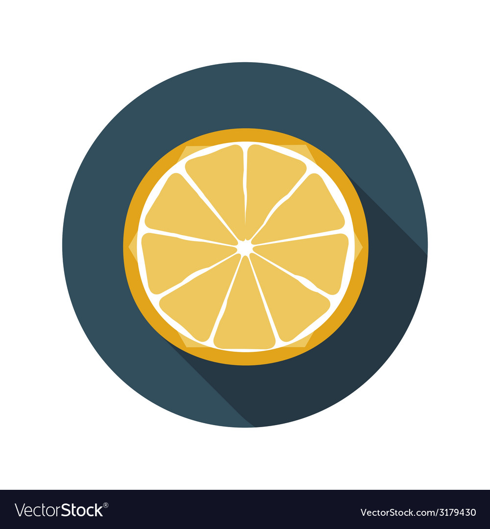 Flat design concept orange with long shadow vector | Price: 1 Credit (USD $1)
