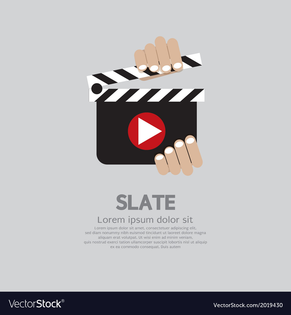 Hand holding a slate vector | Price: 1 Credit (USD $1)