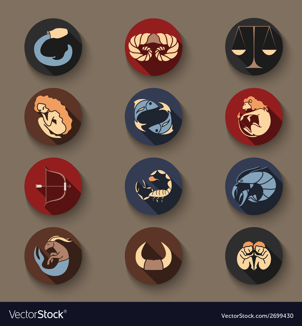 Set of zodiac icons vector | Price: 1 Credit (USD $1)