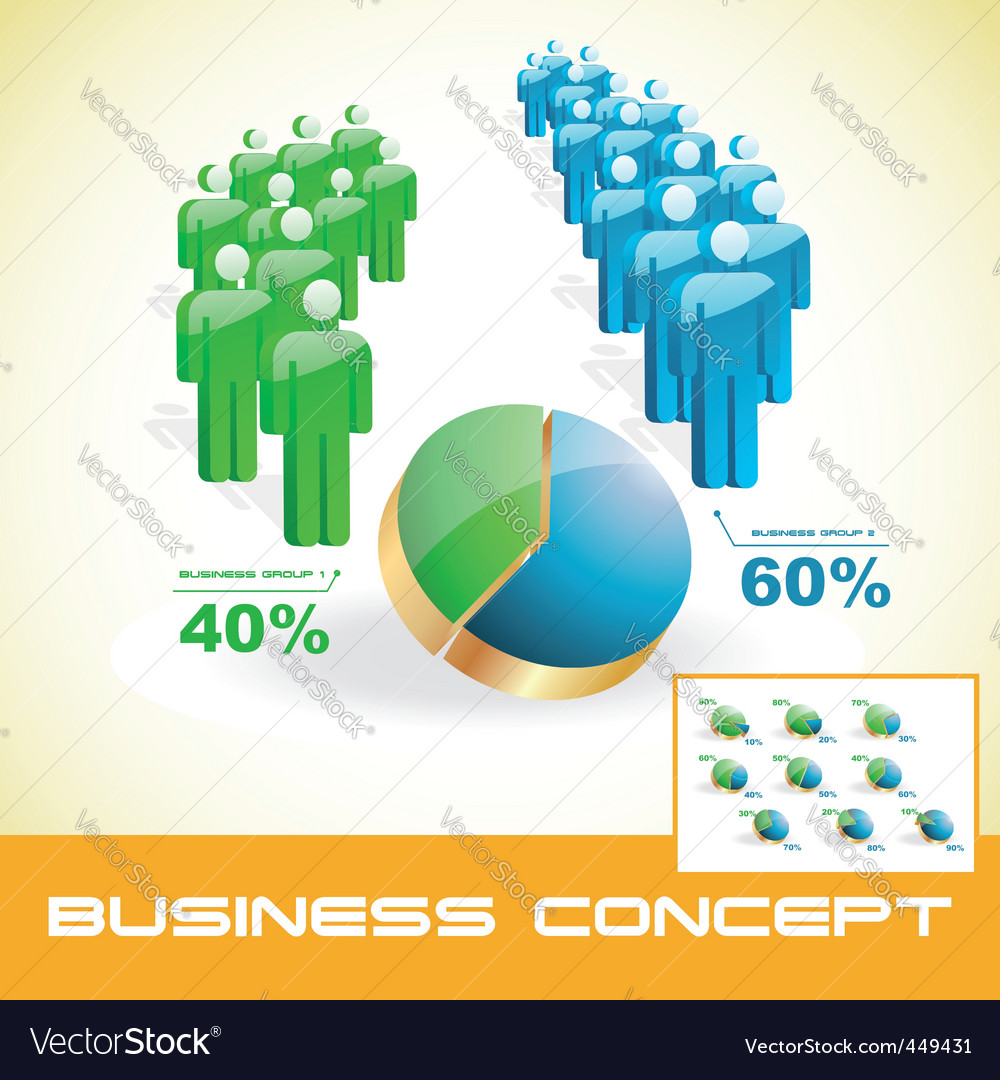 Business graphs vector | Price: 1 Credit (USD $1)