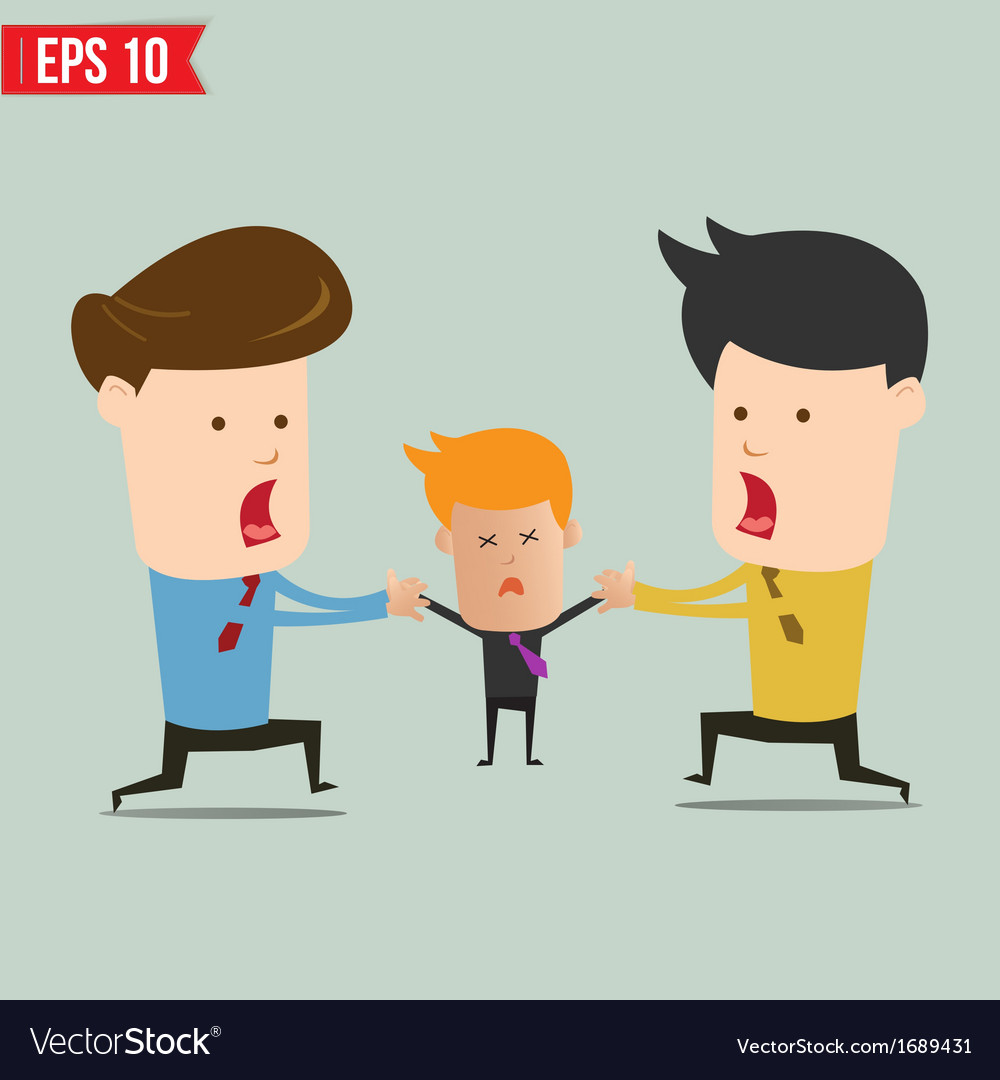 Cartoon business man snatching people - - ep vector | Price: 1 Credit (USD $1)