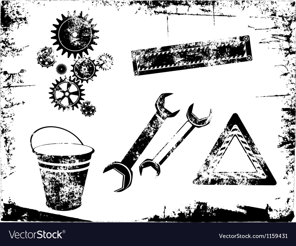 Grunge tools vector | Price: 1 Credit (USD $1)