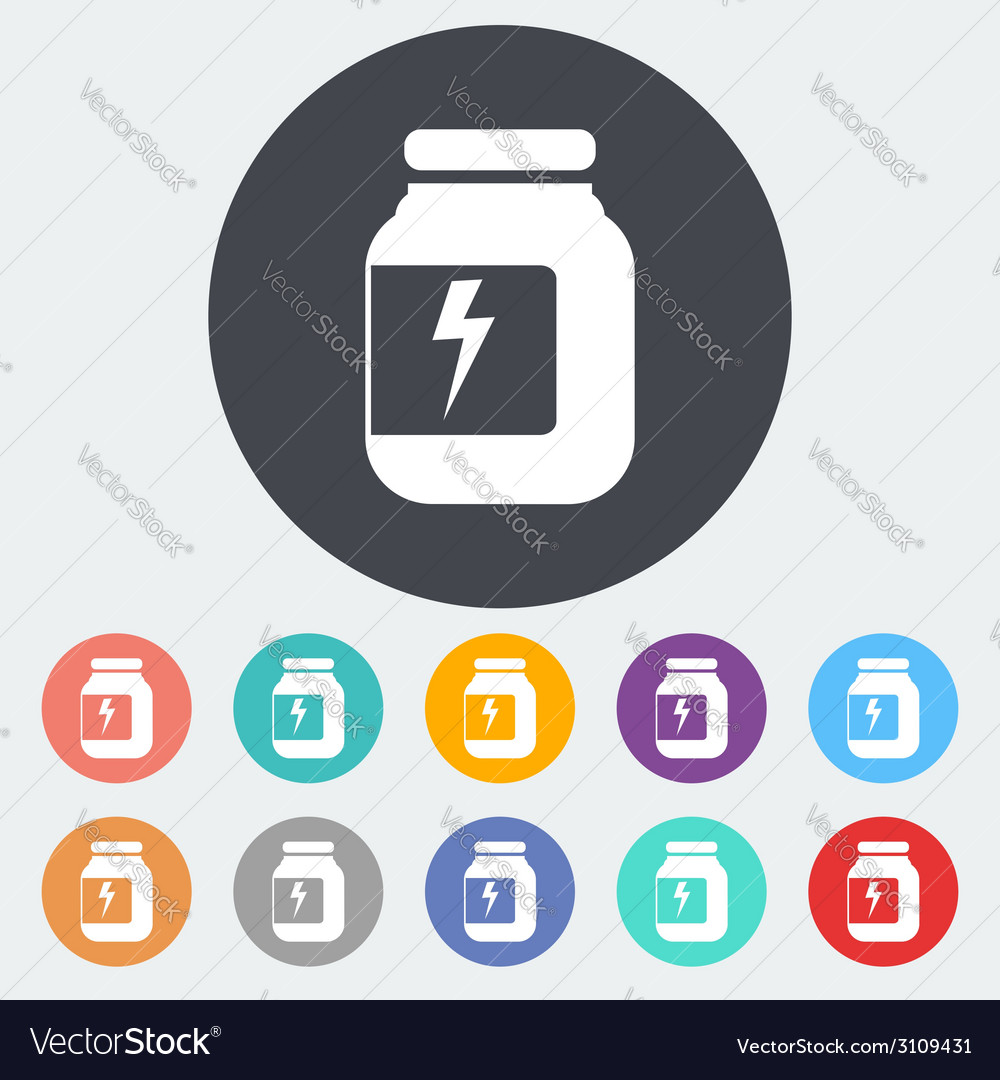 Jar flat icon vector | Price: 1 Credit (USD $1)