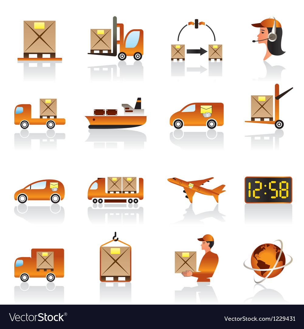 Logistic icons set vector | Price: 1 Credit (USD $1)