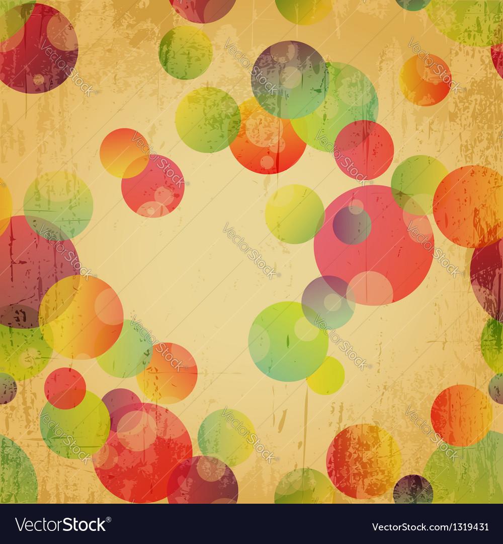 Retro colorful seamless pattern wallpaper vector | Price: 1 Credit (USD $1)