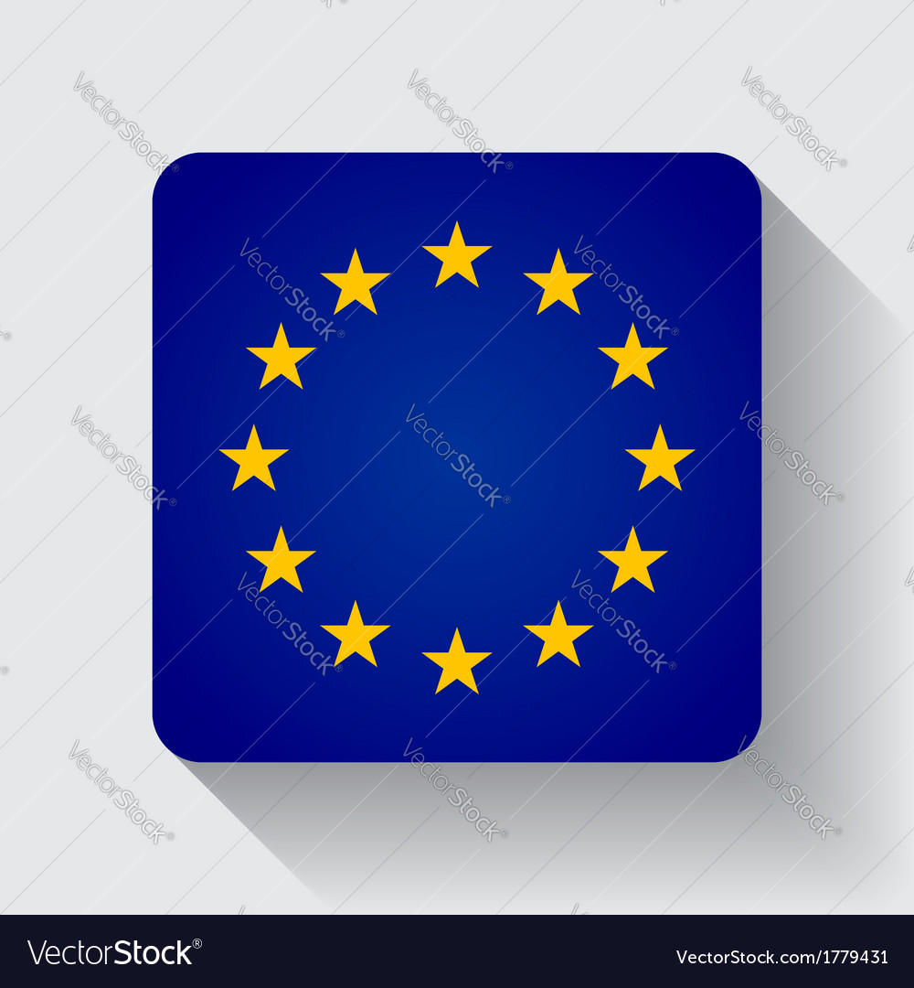 Web button with flag of the eu vector   Price: 1 Credit (USD $1)
