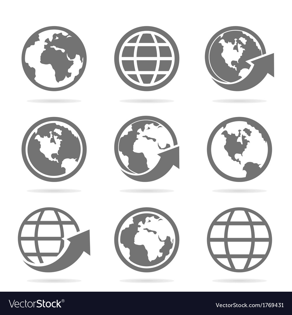 World an icon vector | Price: 1 Credit (USD $1)