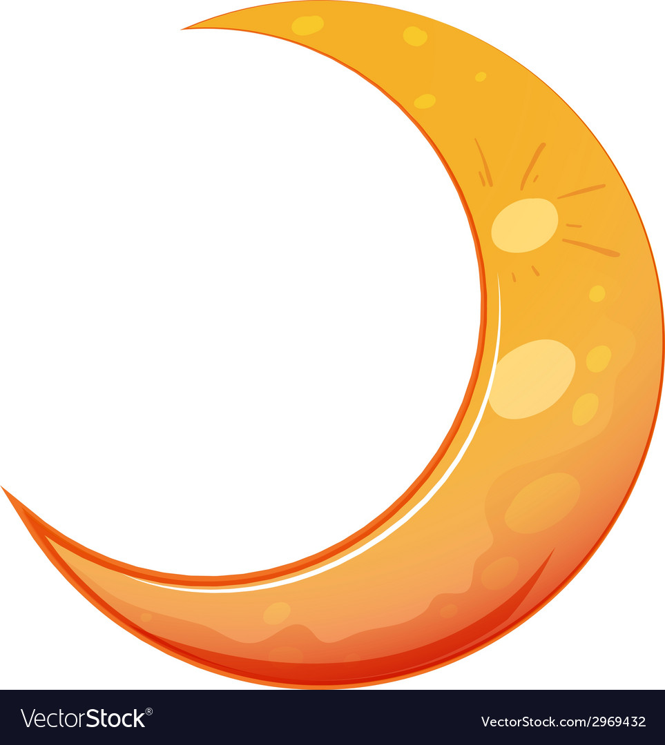 A moon vector | Price: 1 Credit (USD $1)