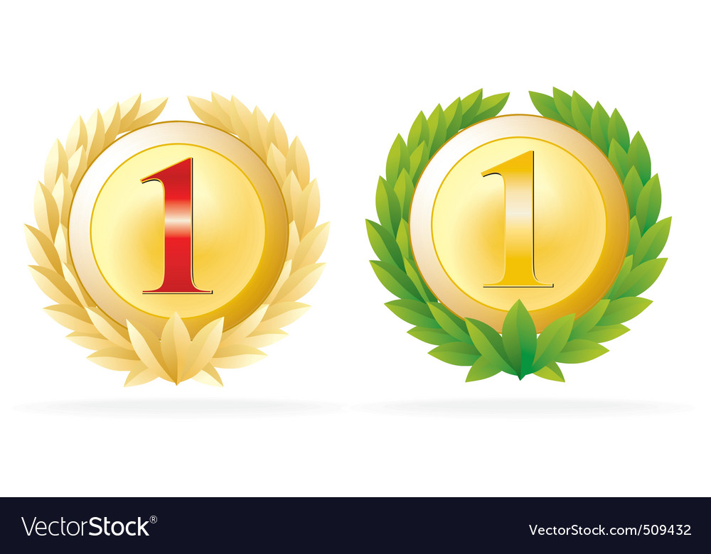 Award number one vector | Price: 1 Credit (USD $1)