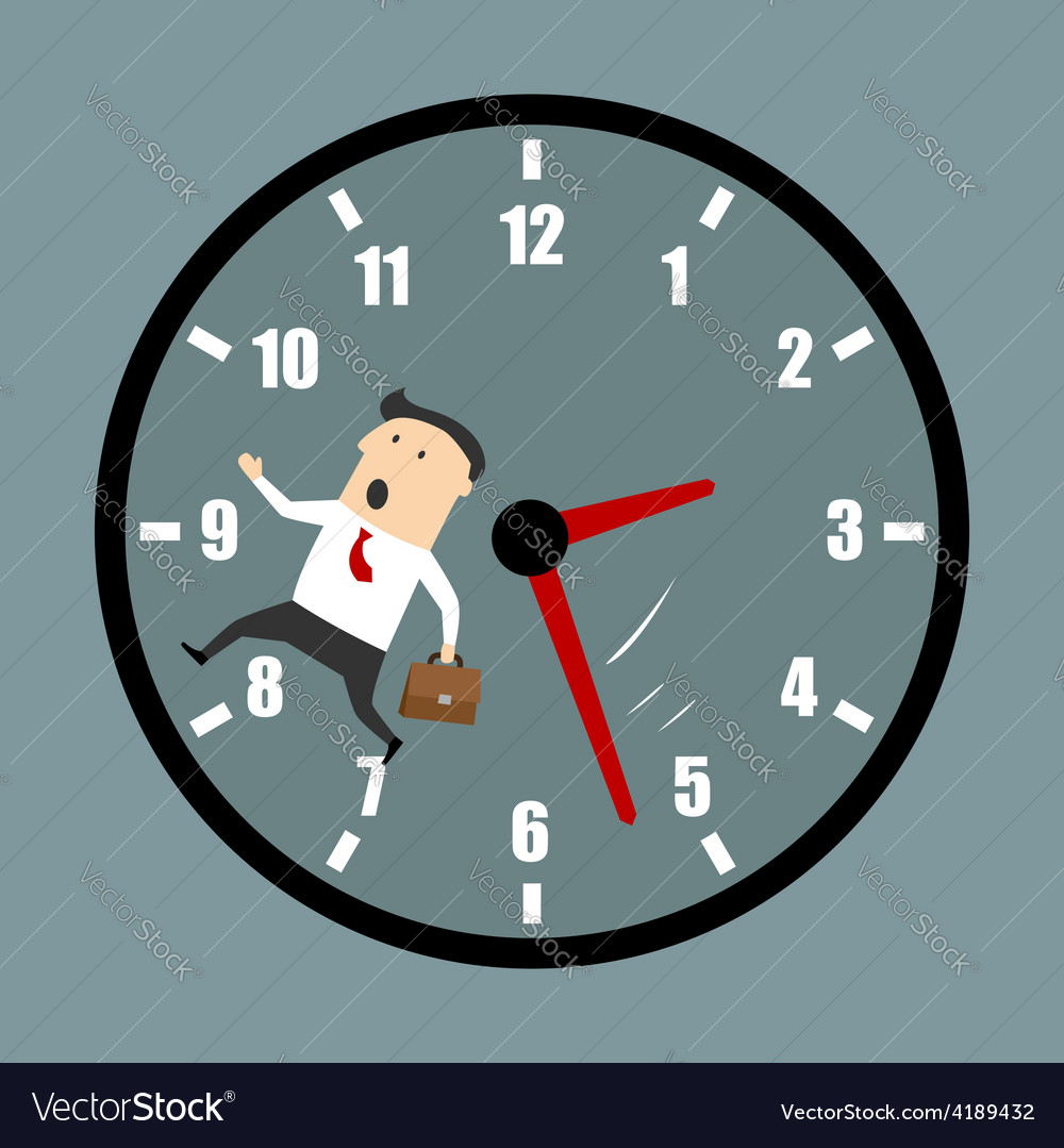 Businessman racing against the clock vector | Price: 1 Credit (USD $1)