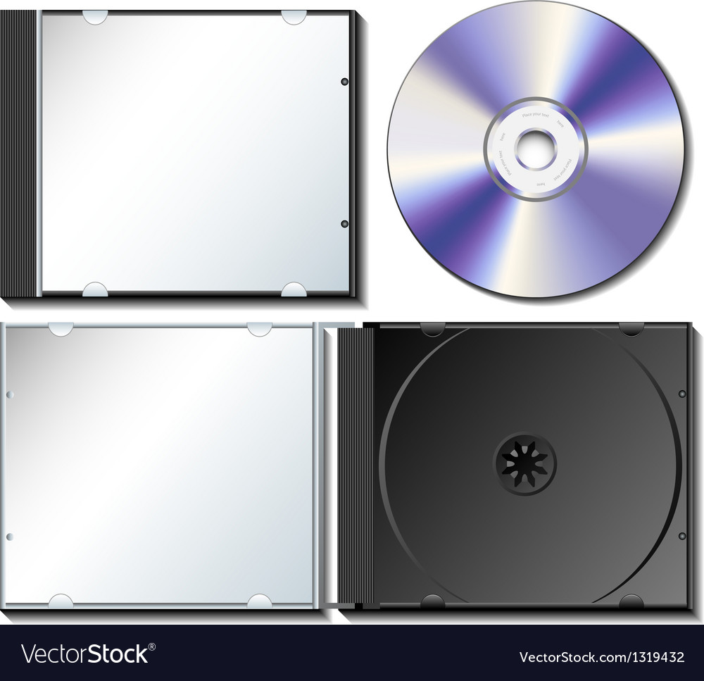 Cd case set with cd vector | Price: 1 Credit (USD $1)