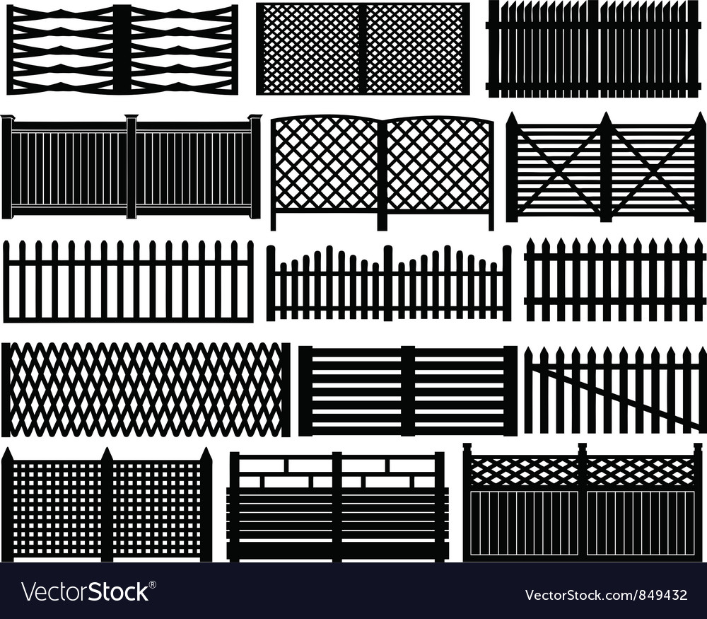 Fence set vector