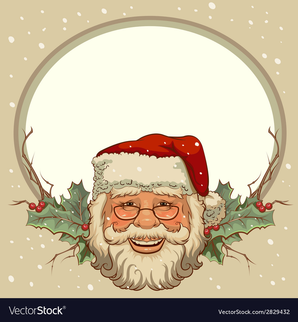 The head of santa claus template cards for vector | Price: 1 Credit (USD $1)