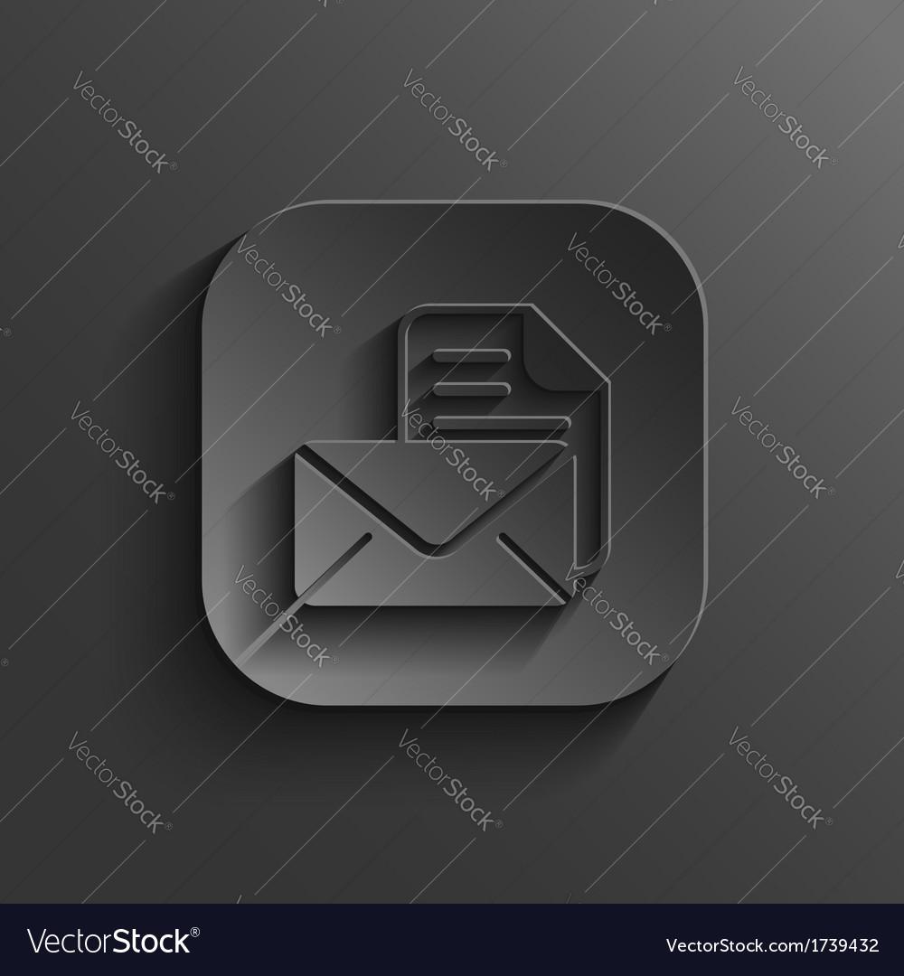 Mail icon - black app button vector   Price: 1 Credit (USD $1)