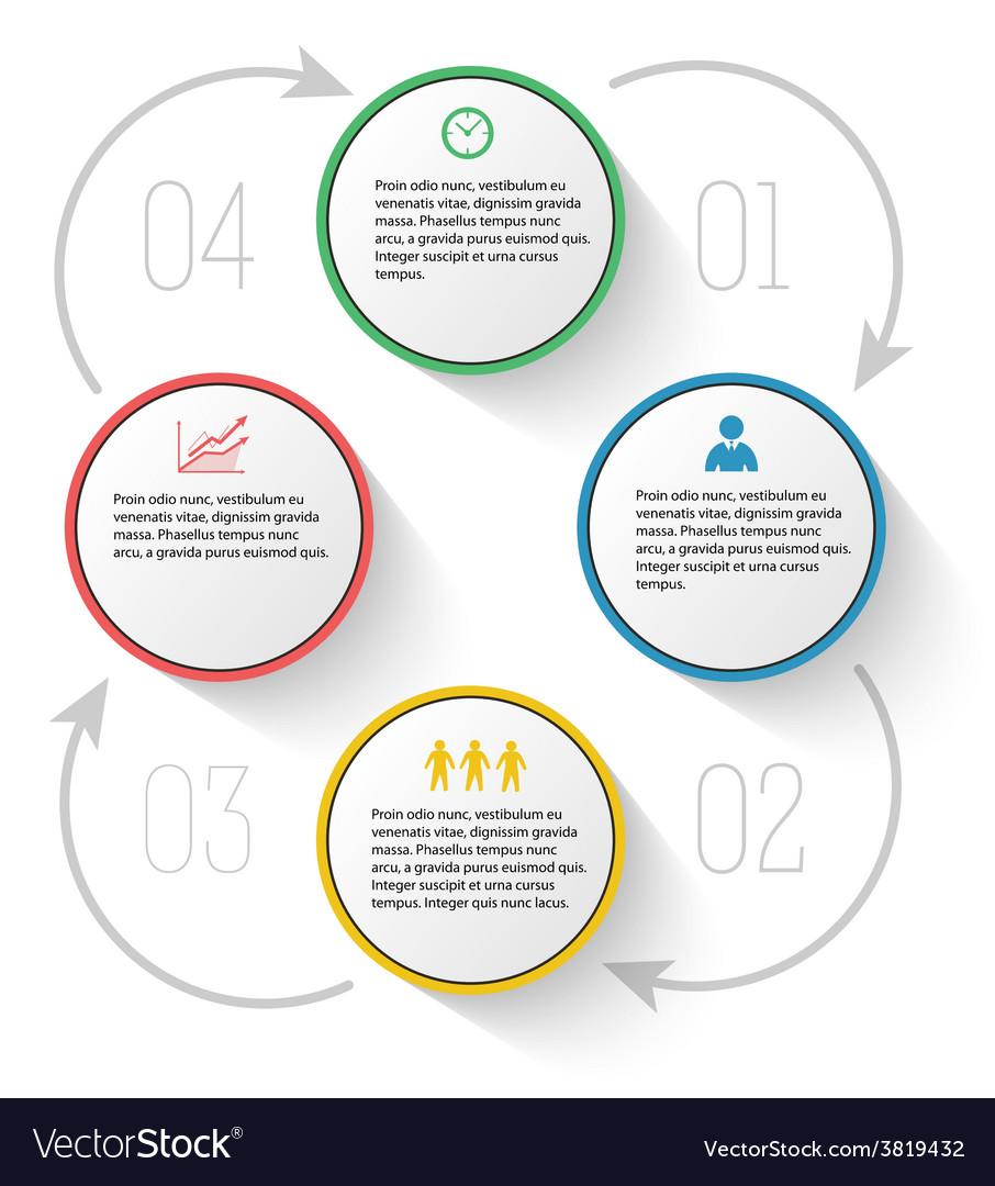 Menu template diagram process report company vector | Price: 1 Credit (USD $1)