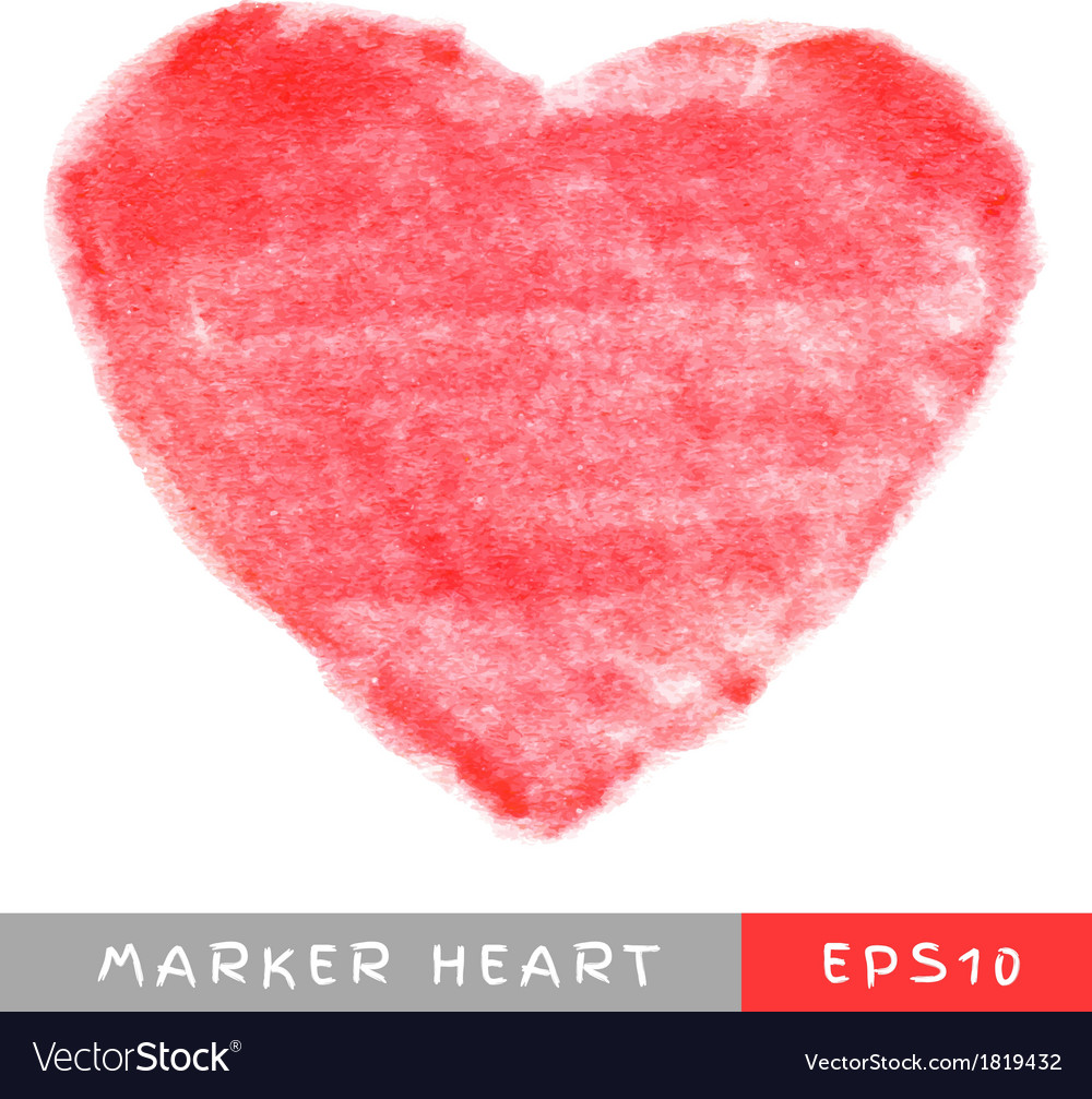 Red felt pen heart vector | Price: 1 Credit (USD $1)
