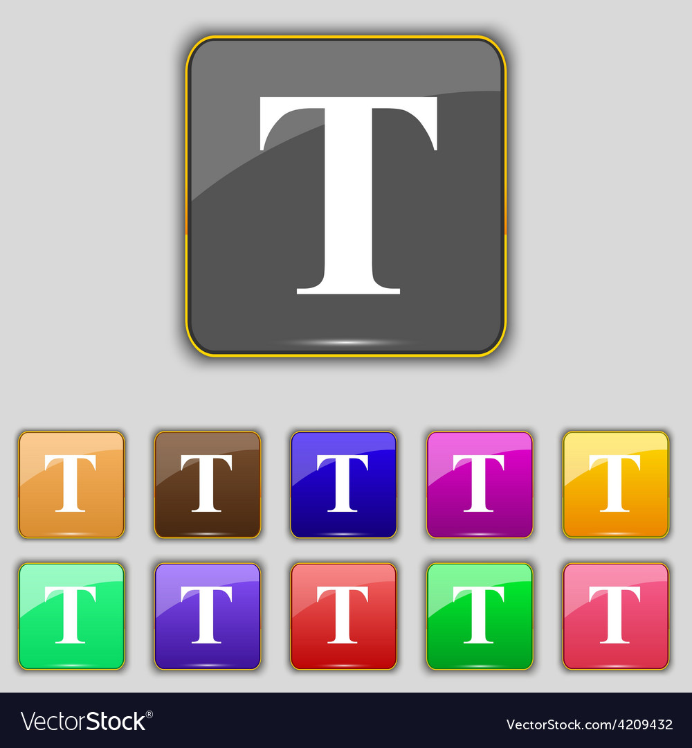 Text edit icon sign set with eleven colored vector | Price: 1 Credit (USD $1)