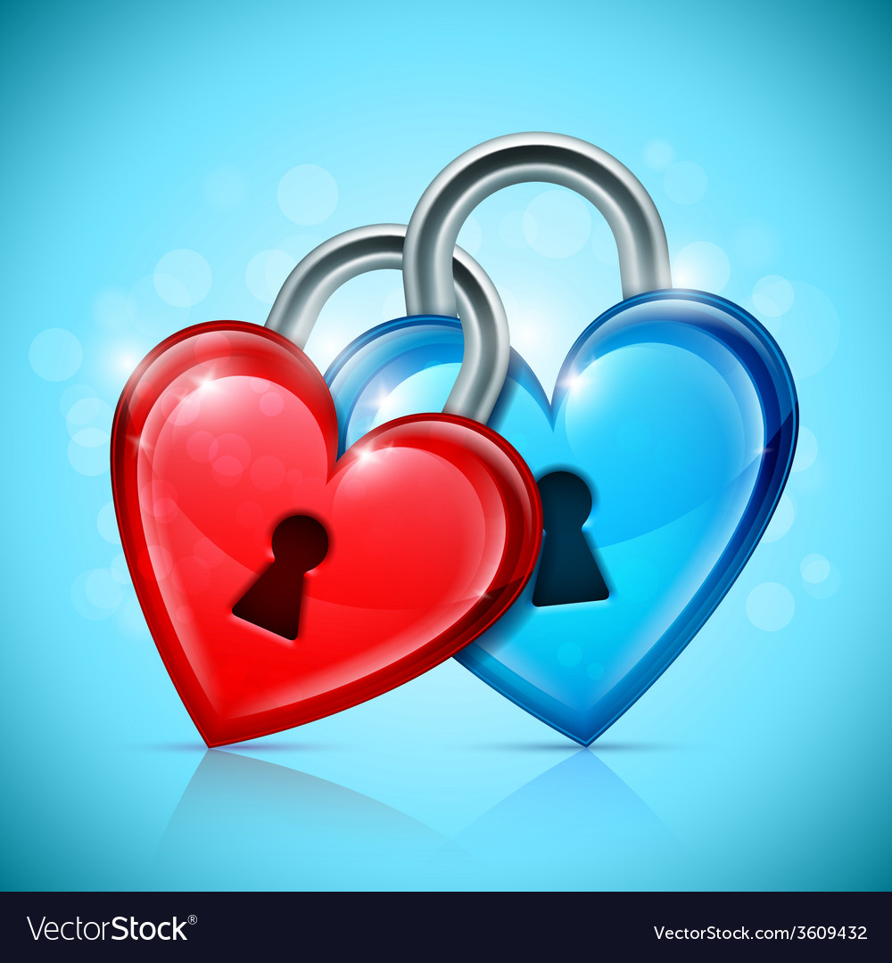 Two heart locks vector | Price: 1 Credit (USD $1)