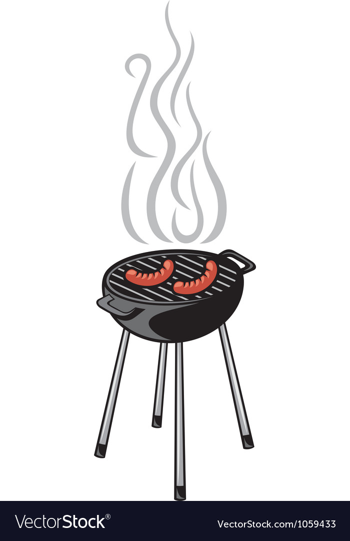 Barbecue grill and sausage vector | Price: 1 Credit (USD $1)