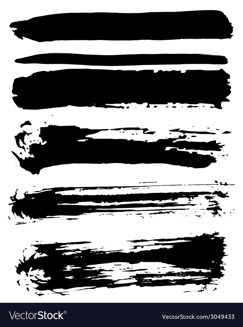 Black ink brush strokes vector   Price: 1 Credit (USD $1)