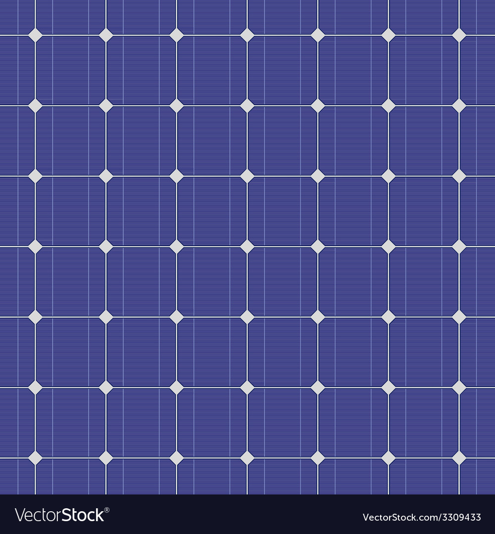 Blue electric solar panel seamless pattern vector | Price: 1 Credit (USD $1)
