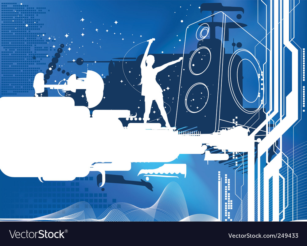 Blue sound vector | Price: 1 Credit (USD $1)