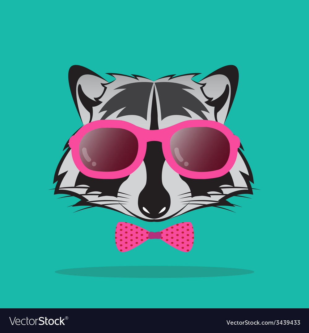 Images of raccoon and glasses vector | Price: 1 Credit (USD $1)
