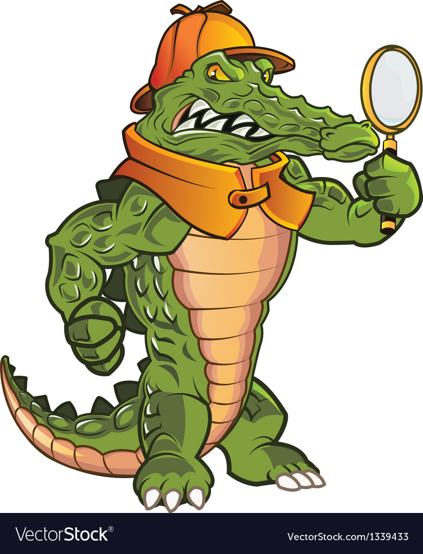 Investigator gator vector | Price: 3 Credit (USD $3)
