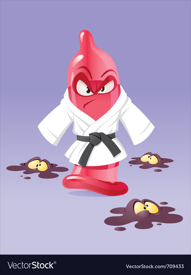 Karate condom vector | Price: 3 Credit (USD $3)
