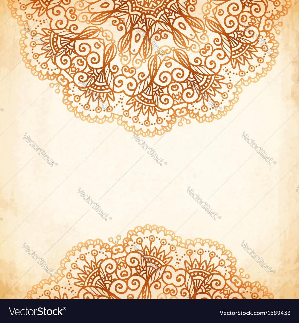 Ornate vintage circle pattern in mehndi style vector | Price: 1 Credit (USD $1)