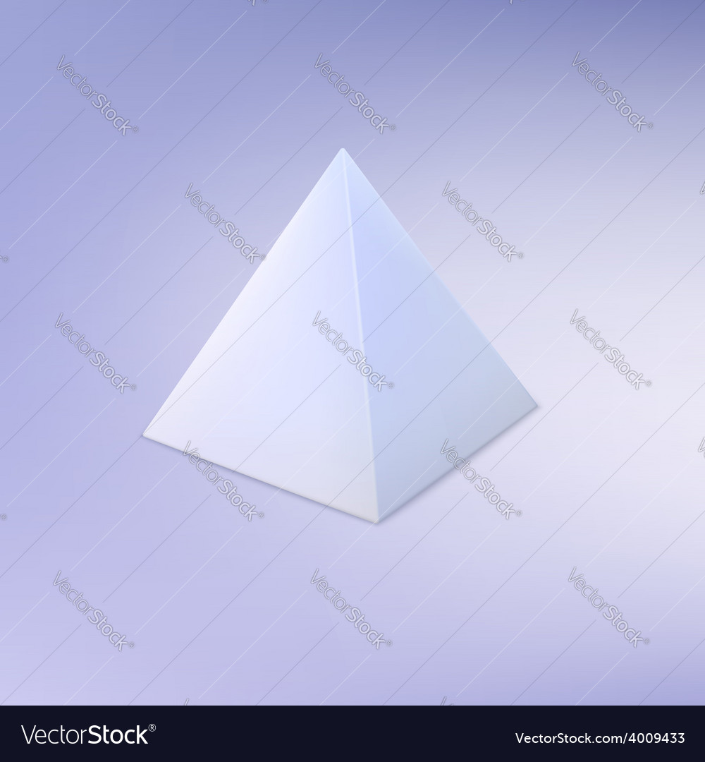 Pyramid basic geometric shape vector | Price: 1 Credit (USD $1)