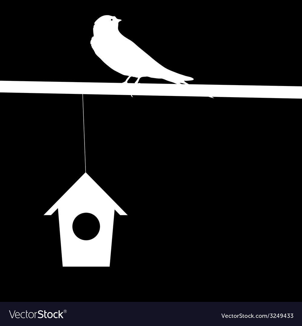 Sparrow and house vector | Price: 1 Credit (USD $1)