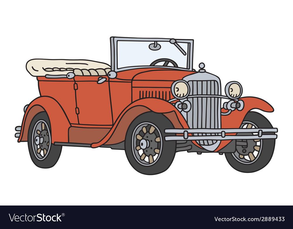 Vintage cabriolet vector   Price: 1 Credit (USD $1)