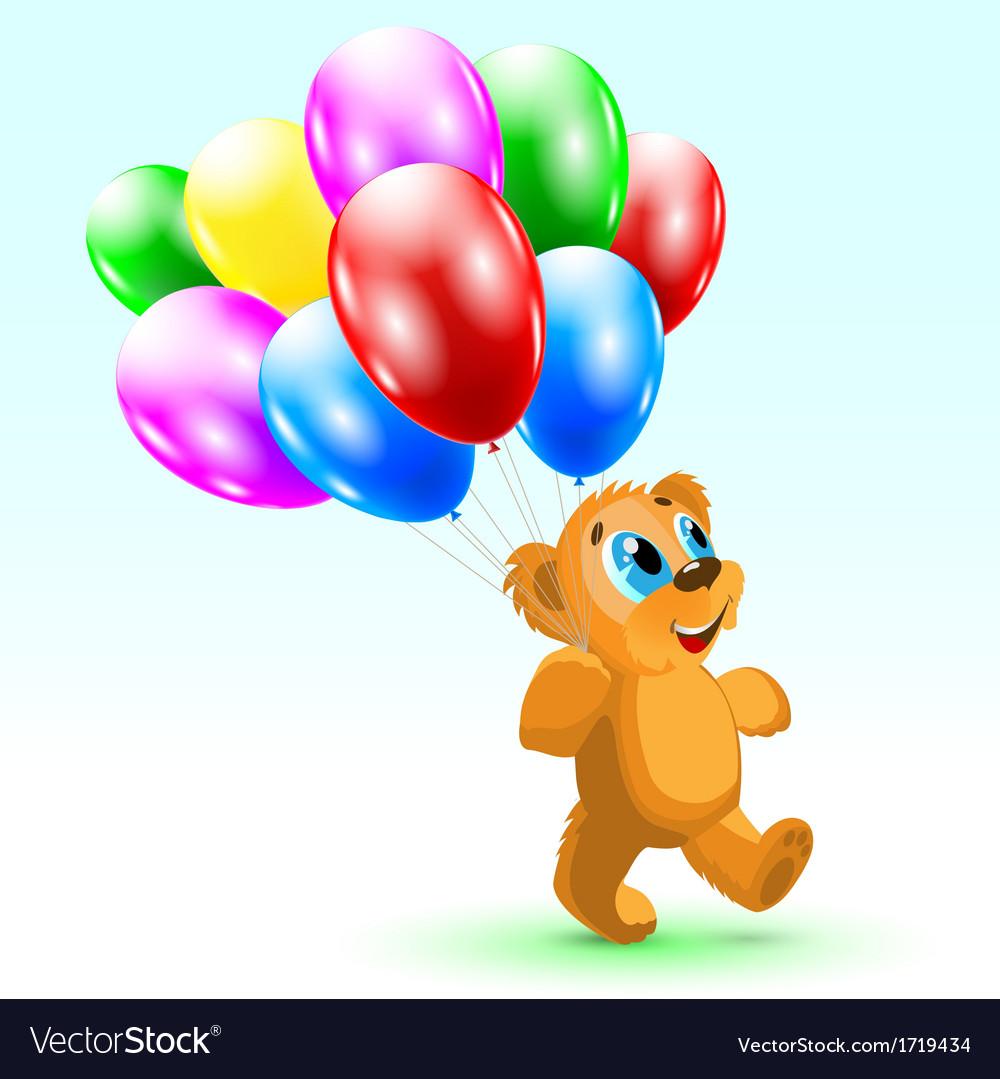 Bear birthday vector | Price: 1 Credit (USD $1)