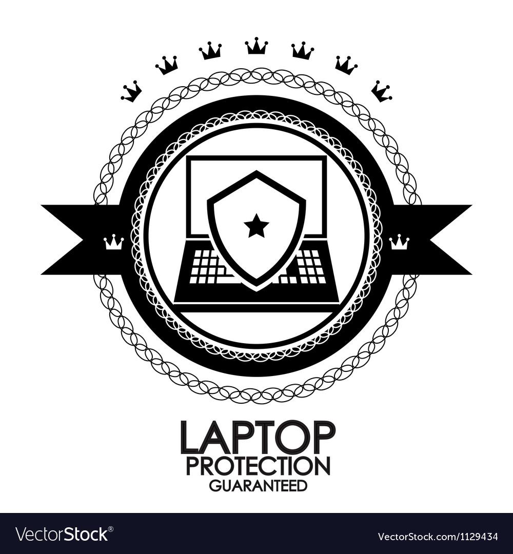 Black retro vintage label  tag  badge  laptop vector | Price: 1 Credit (USD $1)